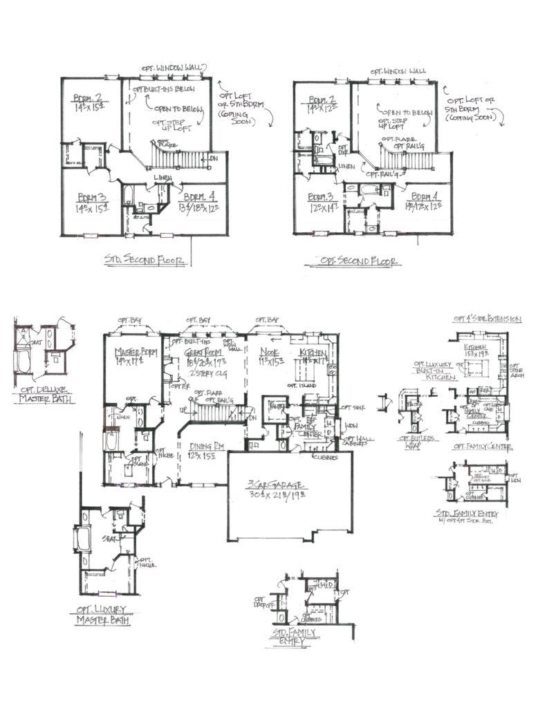 Magnolia sketch floor plan layout lombardo homes - Magnolia homes floor plans ...