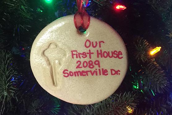 d775030178342 Home Decorating DIY  How to Make a House Key Keepsake Ornament - Lombardo  Homes