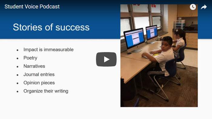 Kidblog Podcast: Students have a voice, who's listening?