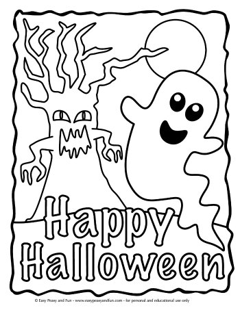 Scary Cartoon Coloring Page - Coloring Home | 453x350