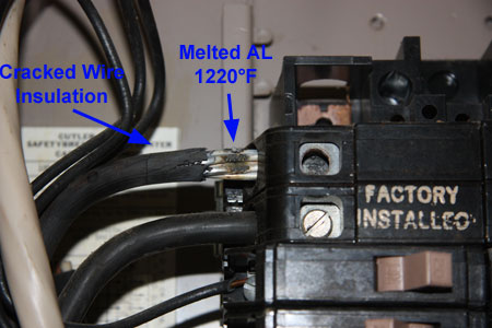 Heat Damaged Loose Connection