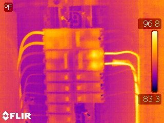 Infrared Detection of Heat Build Up from Loose Connection