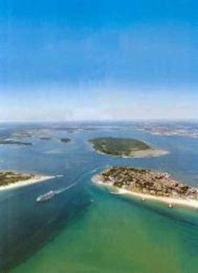 Beautiful Poole Harbour from the air.