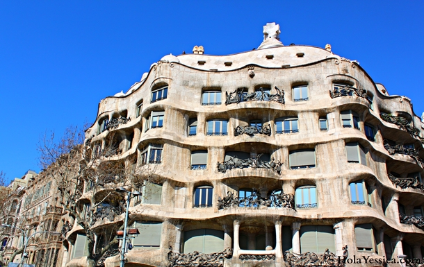 La Pedrera - one block away from our apartment