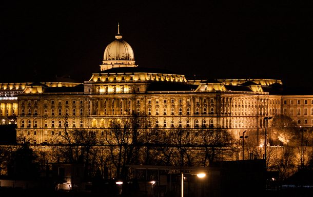 Night view Of Buda Castle from our home!