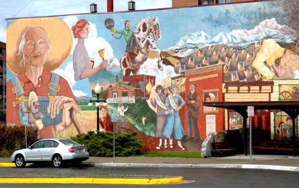 Home exchange in,United States,Helena,Mural in Helena