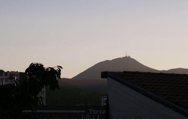 THE PUY DE DOME FROM OUR BEDROOM'S WINDOW