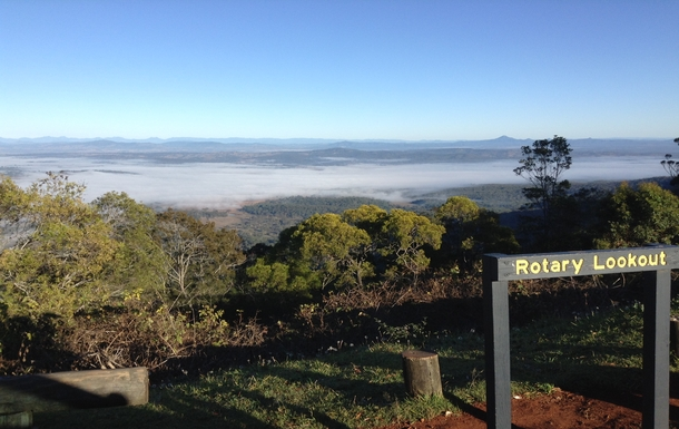 Home exchange in,Australia,Tamborine Mountain,Views - west towards the Great Dividing Range