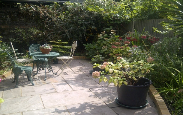 The garden at the rear of the flat