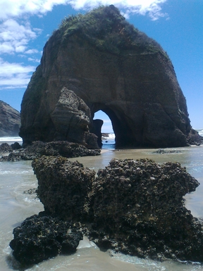 Arches on Wharariki Beach.
