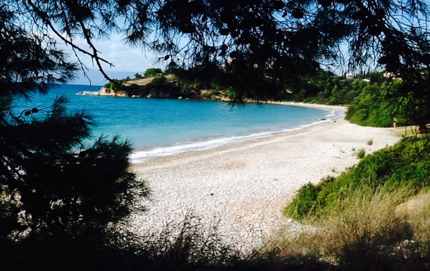 BoligBytte til,Greece,Kranidi,Beach with shadow under trees