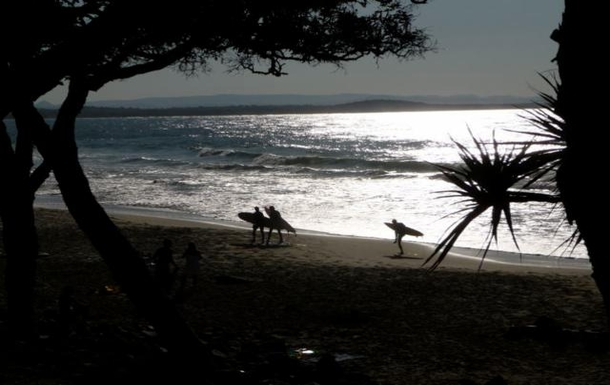 Noosa is a popular surfing spot