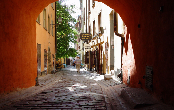 BoligBytte til,Sweden,Stockholm, 7k, S,One of the small alleys in the old town.