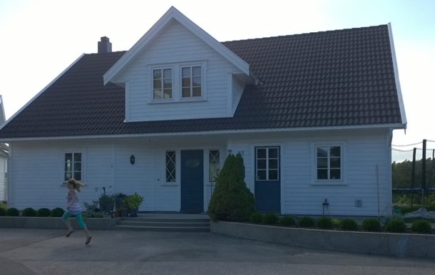 Our house - typical style of southern Norway