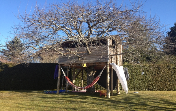 tree-house in the garden