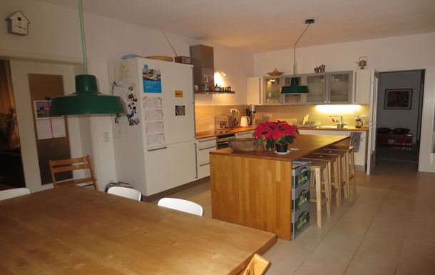 Lots of space in the kitchen for cooking & family