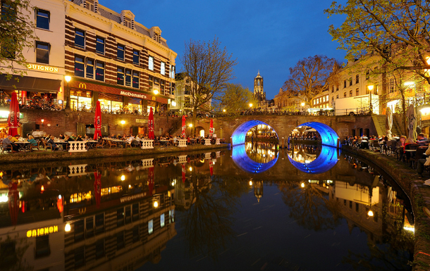 BoligBytte til,Netherlands,Utrecht,The Oude Gracht (old canal) and the Dom (15 minute