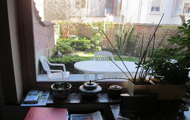 BoligBytte til,Belgium,Schaerbeek,Ground floor: view of the garden from dining room