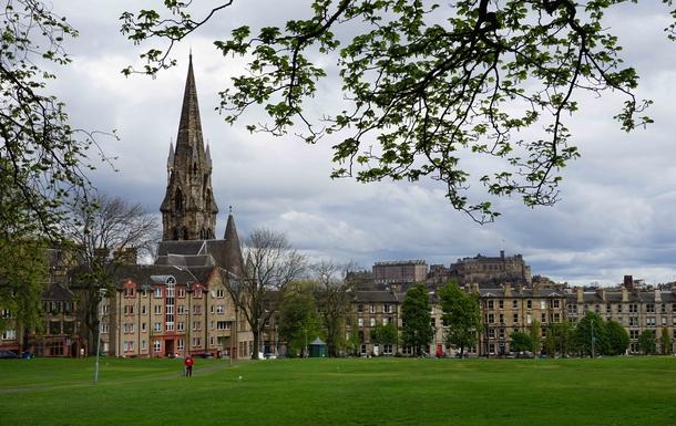 BoligBytte til,United Kingdom,Edinburgh,Bruntsfield Links with view to Edinburgh Castle