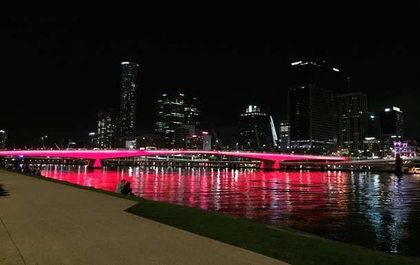 Home exchange in,Australia,Brisbane,Brisbane CBD at night from Southbank