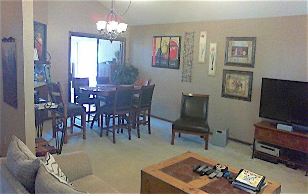 Home exchange in,United States,Alamo,dining area of open floor plan
