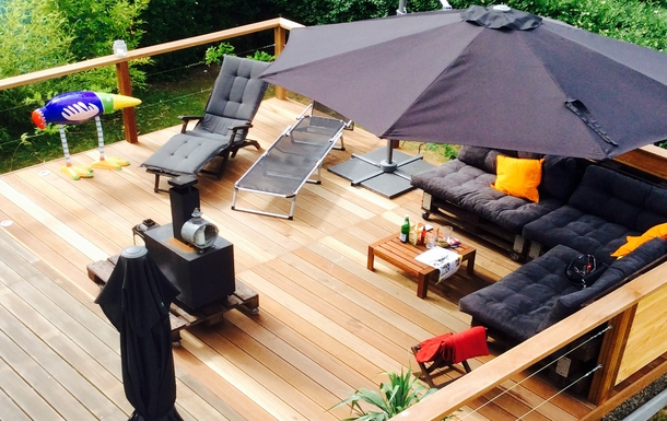 new terrace 50 squaremeter, holiday feeling