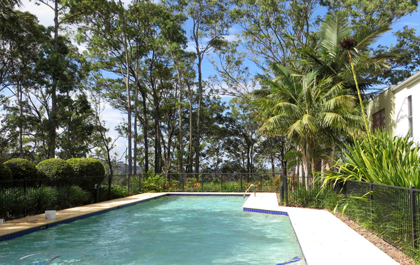 Home exchange in,Australia,COFFS HARBOUR,One of two pools - 40 metres from our villa
