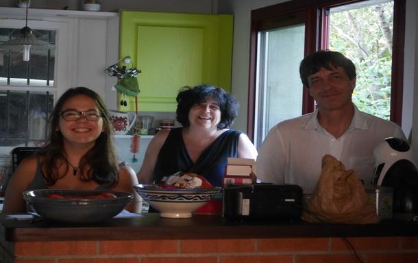 Notre famille, Elsa notre fille, Philippe et moi