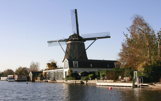 """BoligBytte til,Netherlands,Amsterdam, 10k, S,The windmill """"De Ruiter"""" at 500 m from the house"""