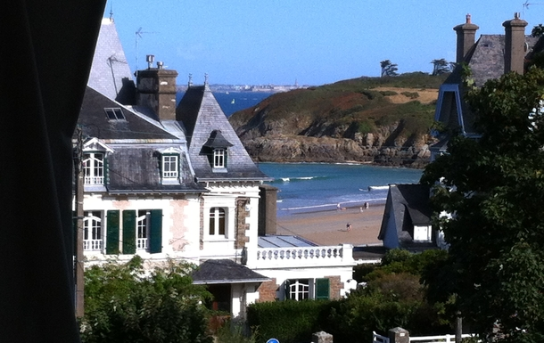 Sea view with St Malo on the other side of the bay