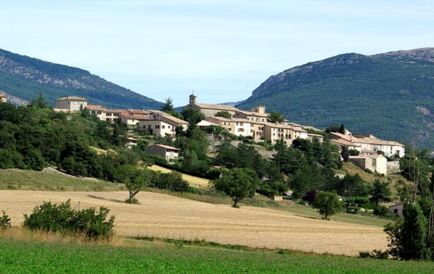 View of village from the west