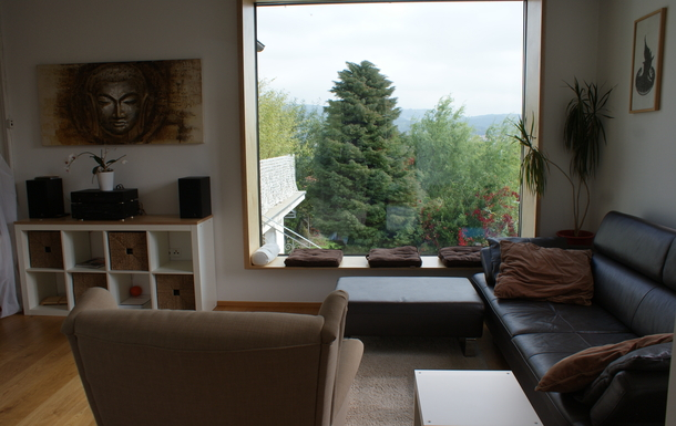 Living room - view into own garden