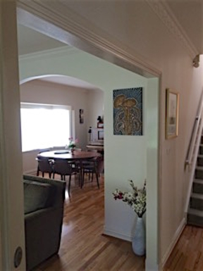 Home exchange in,Australia,BEAUMARIS,view fo dining room from entrance