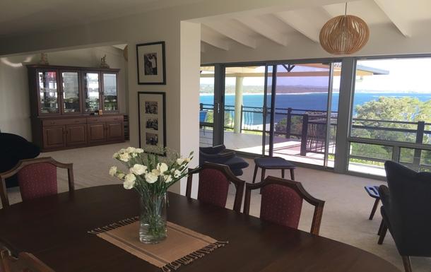 Home exchange in,Australia,WOOLGOOLGA,Upstairs dining room with ocean views