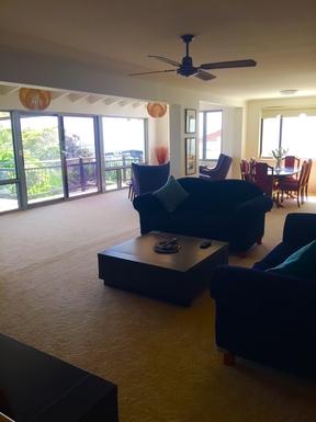 Home exchange in,Australia,WOOLGOOLGA,Upstairs Living/Dining Area