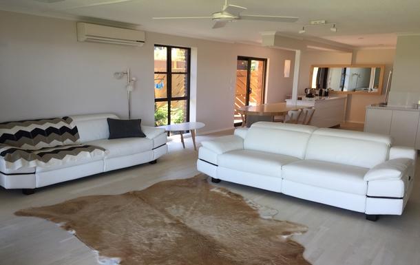 Home exchange in,Australia,BELLARA,Lounge through to kitchen