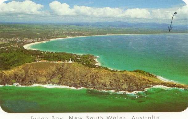 Home exchange in,Australia,Byron Bay, 20k, N,Byron Bay looking northwards to our beach