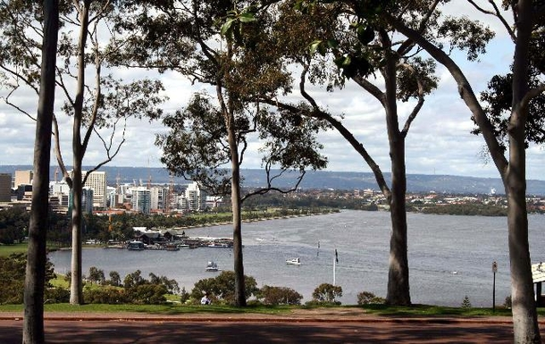 Perth Water from Kings Park