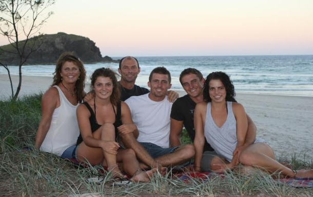 Home exchange in,Australia,POTTSVILLE,Our family (our oldest is missing)