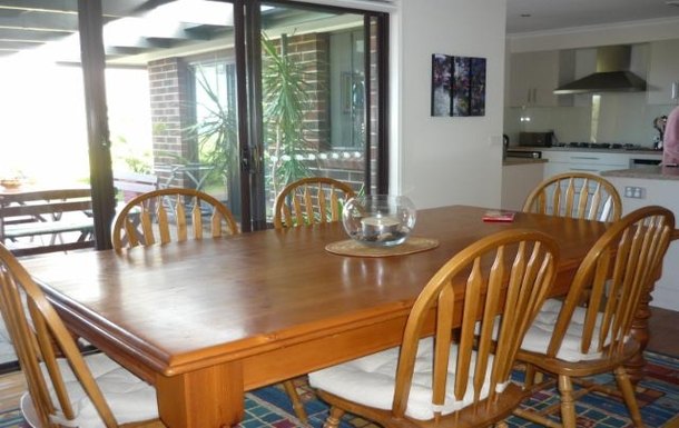 Home exchange in,Australia,MARINO,Dinning area with sea views