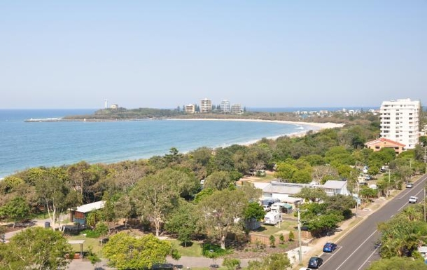 Home exchange in,Australia,MOOLOOLABA,View from front deck looking East .