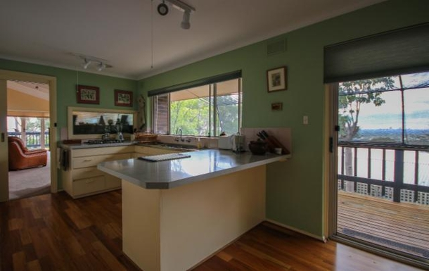 Home exchange in,Australia,LYNTON,Kitchen facing north with views to the city