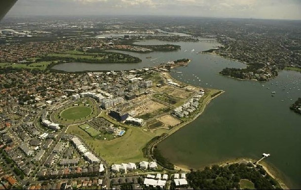Home exchange in,Australia,BREAKFAST POINT,Arial view of suburb