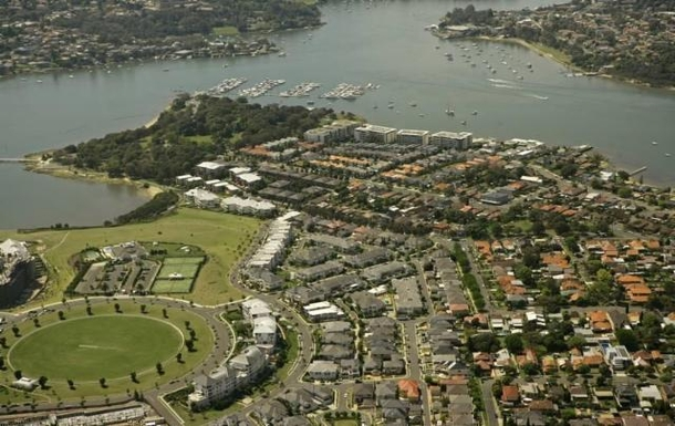 Home exchange in,Australia,BREAKFAST POINT,Suburb arial view