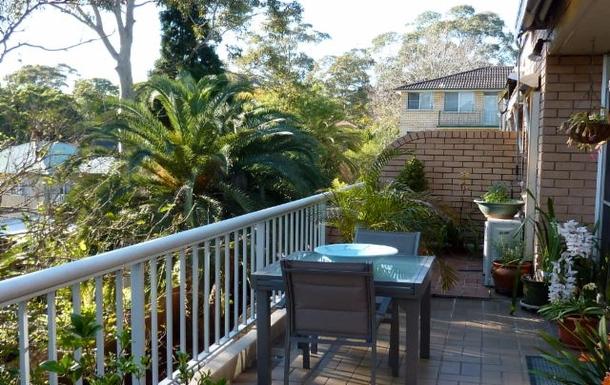 Home exchange in,Australia,LANE COVE,Balcony looking east.