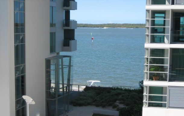 Home exchange in,Australia,PARADISE POINT,Looking east from balcony