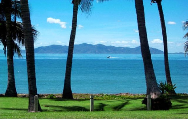View from Magnetic Island across to Townsville