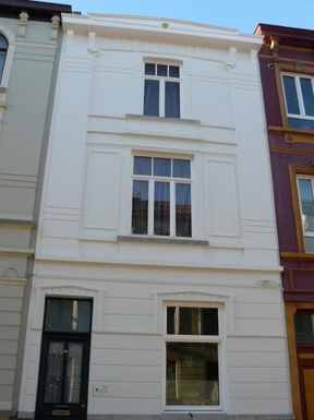 The recently renovated facade of our house (1907)