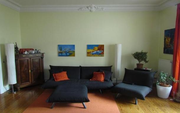 Home Exchange InGermanySchwerin HamburgWohnzimmer Mit Tren Zum Balkon