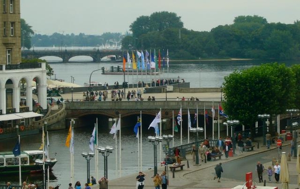 The inner Alster seen from the townhall